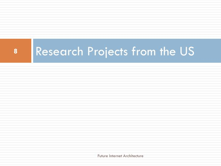 Research Projects from the US