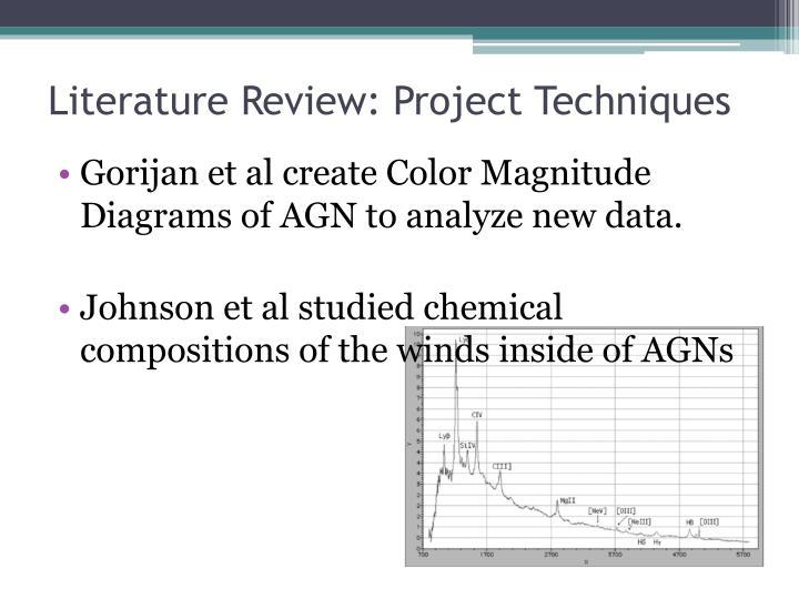 Literature Review: Project Techniques