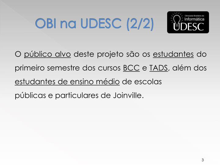 OBI na UDESC (2/2)