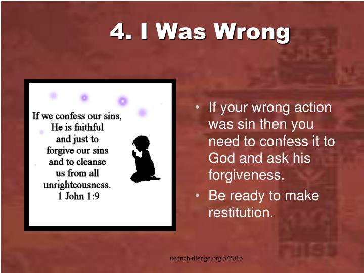 4. I Was Wrong