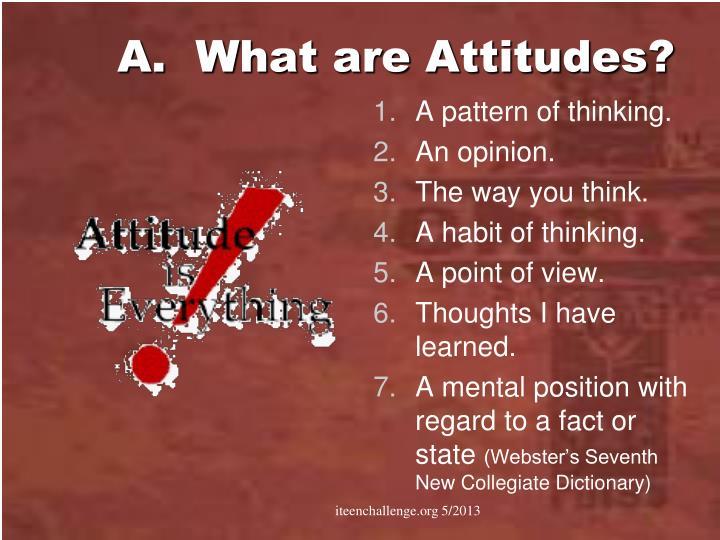 A.  What are Attitudes?