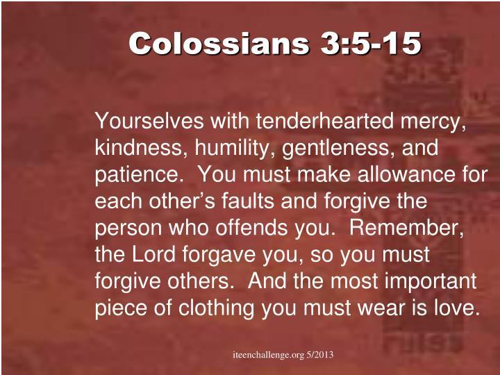 Colossians 3:5-15