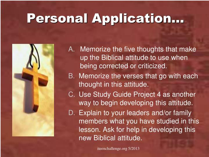 Personal Application…