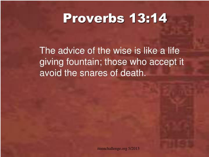 Proverbs 13:14