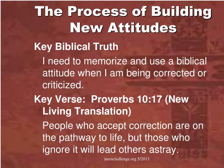 The Process of Building New Attitudes