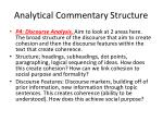 analytical commentary structure1