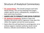 structure of analytical commentary
