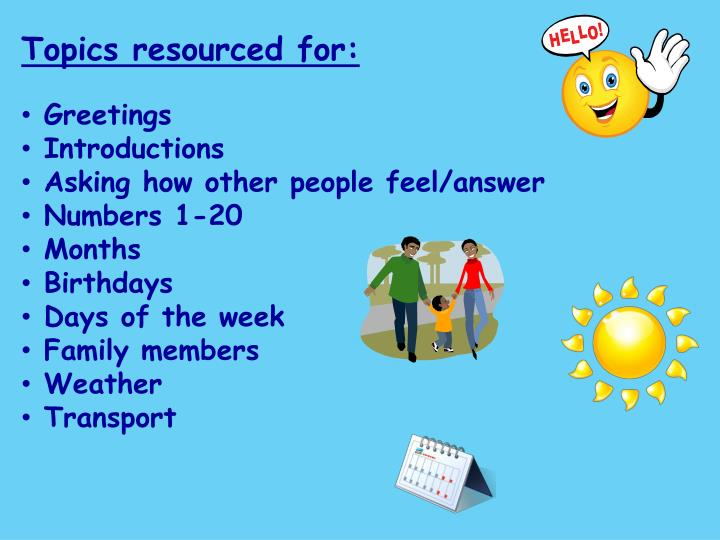 Topics resourced for: