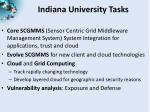 indiana university tasks