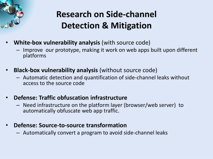 Research on Side-channel