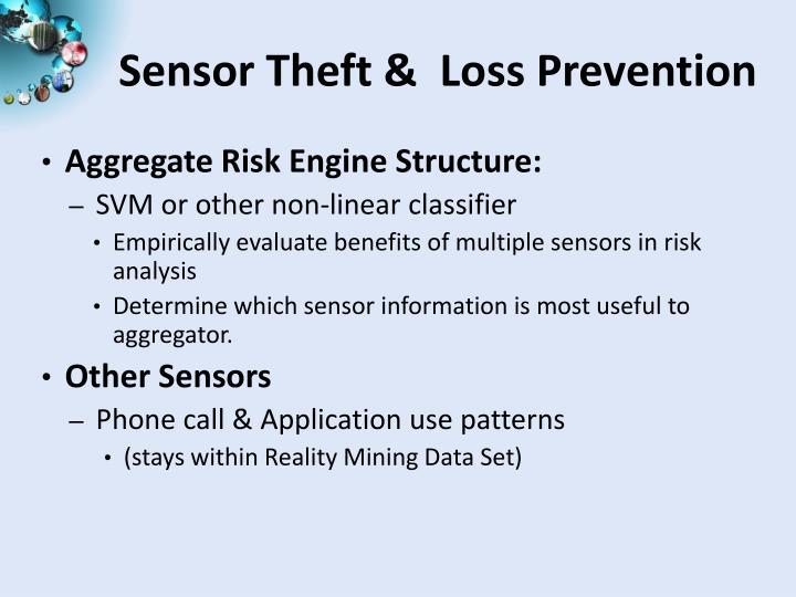 Sensor Theft &  Loss Prevention
