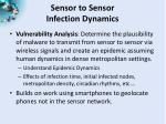 sensor to sensor infection dynamics