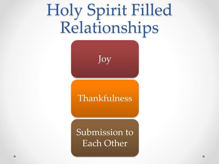 Holy Spirit Filled Relationships