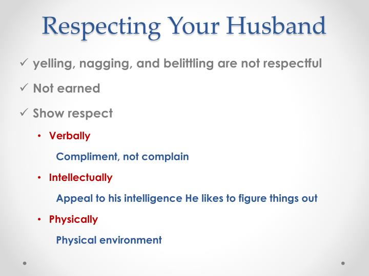 Respecting Your Husband