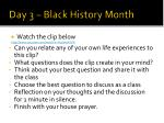 day 3 black history month