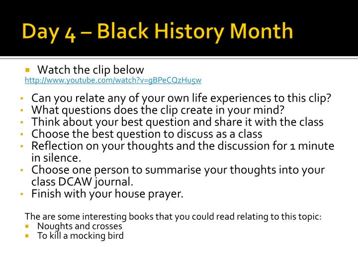 Day 4 – Black History Month