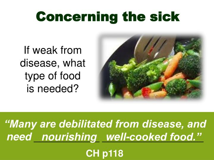 Concerning the sick