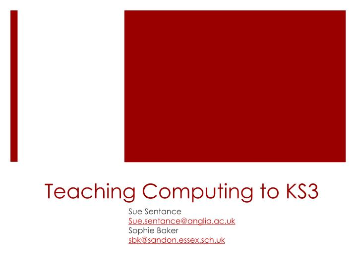 teaching computing to ks3