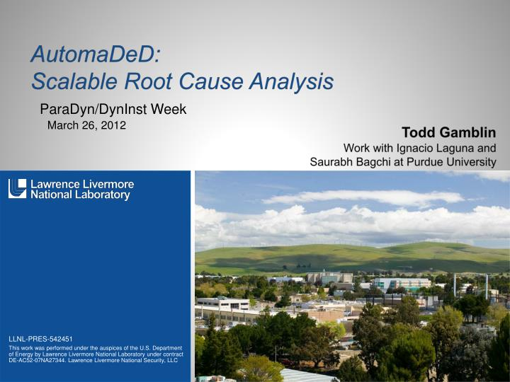 automaded scalable root cause analysis