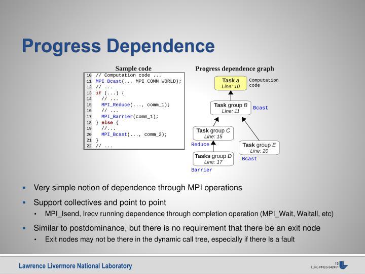 Progress Dependence