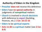 authority of elders in the kingdom1