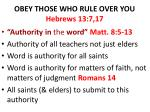 obey those who rule over you hebrews 13 7 173
