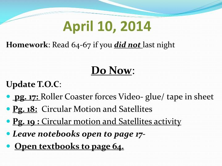 April 10, 2014