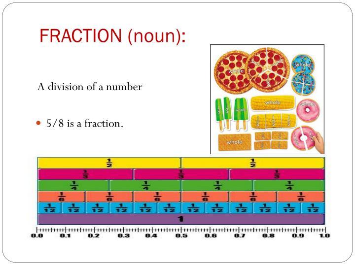 FRACTION (noun):