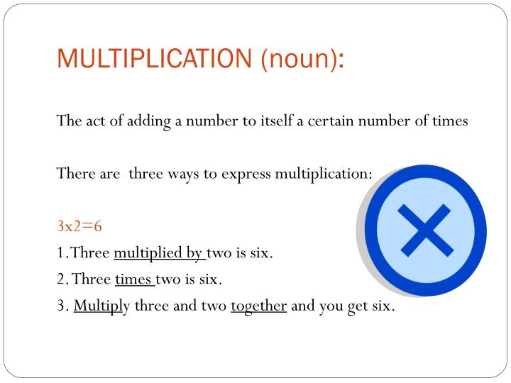 MULTIPLICATION (