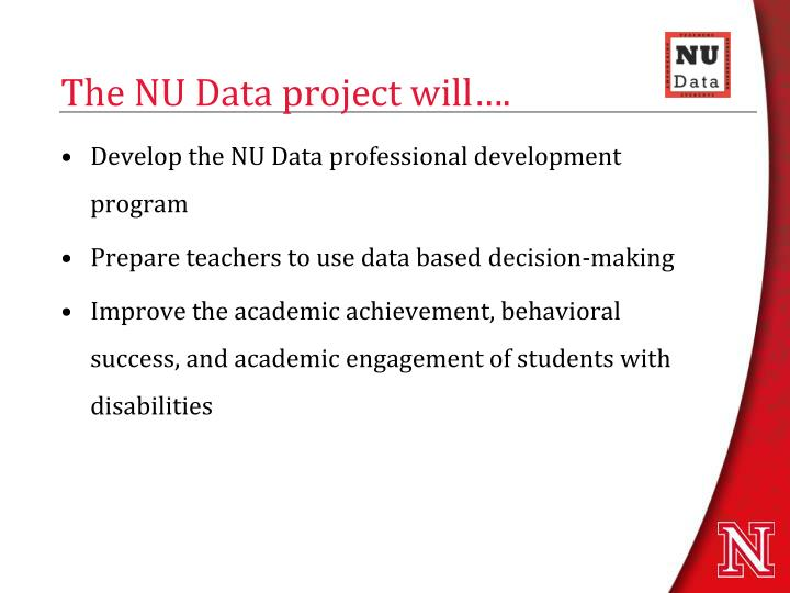 The nu data project will