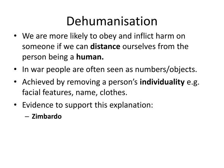 Dehumanisation