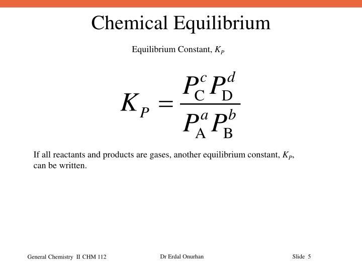 Equilibrium Constant,