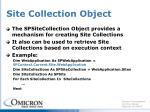 site collection object