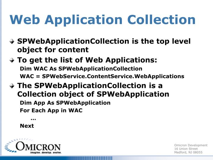 Web Application Collection