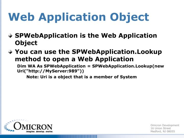 Web Application Object
