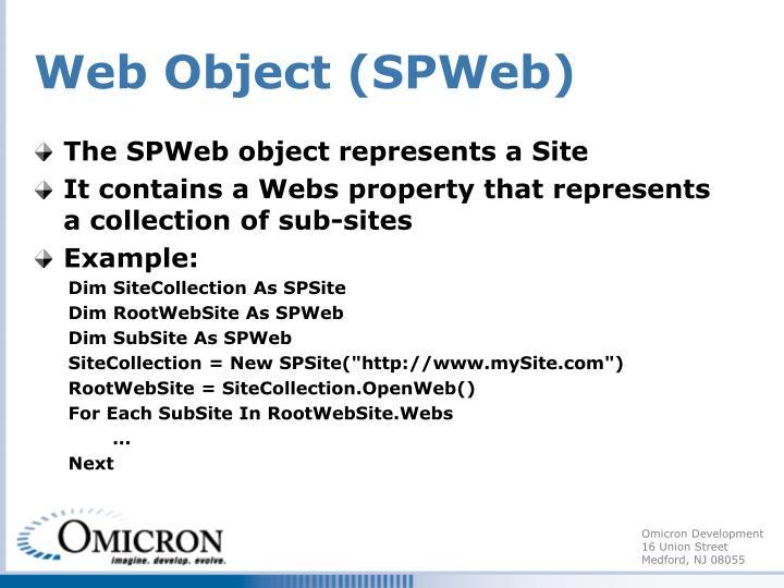 Web Object (