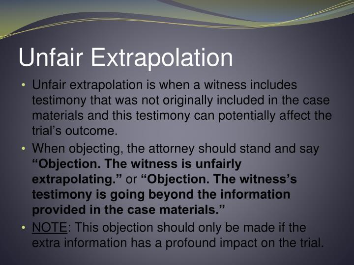Unfair Extrapolation