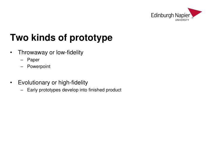 Two kinds of prototype