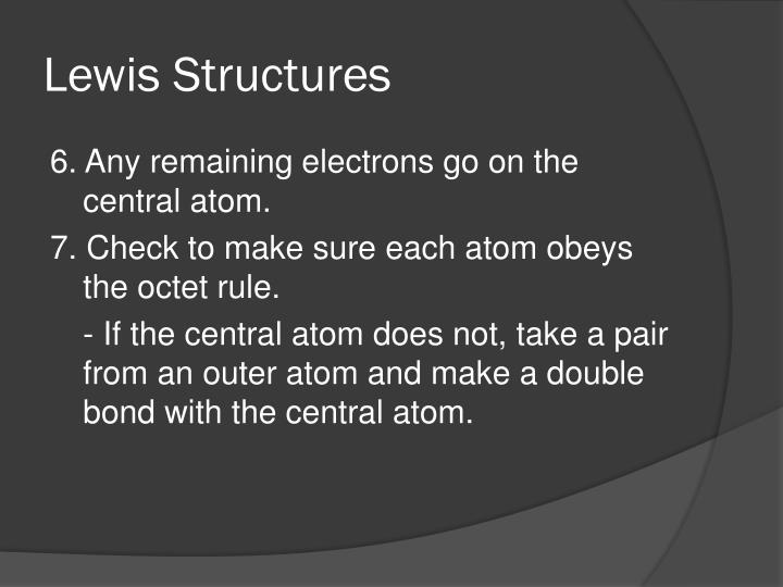 Lewis structures2