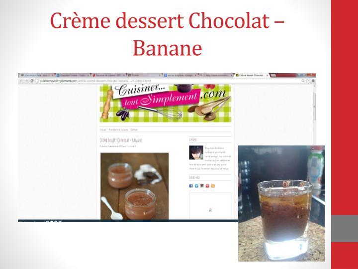 Crème dessert