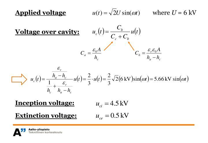Applied voltage