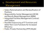 4 development and resources management