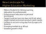 new landscape for higher education marketing
