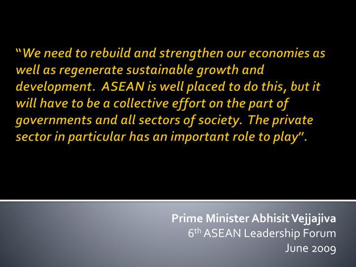 Prime Minister Abhisit Vejjajiva