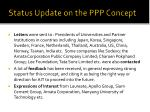 status update on the ppp concept1