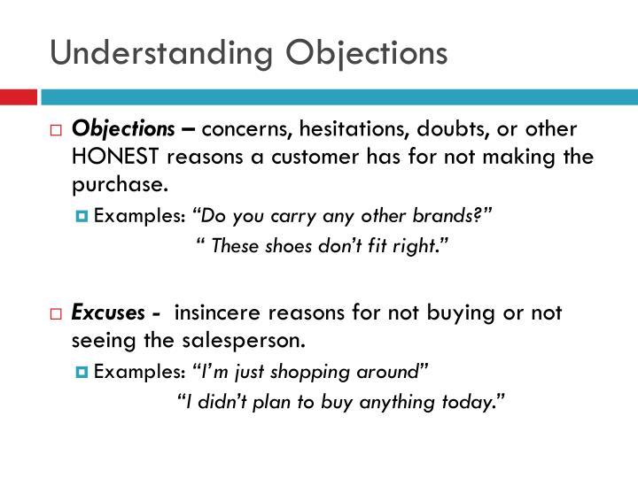 Understanding Objections