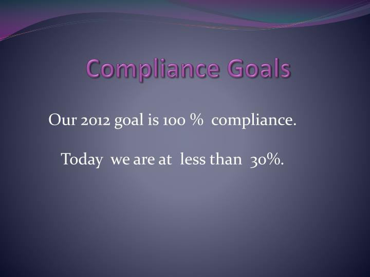Compliance Goals