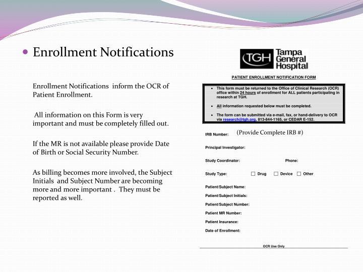 Enrollment Notifications