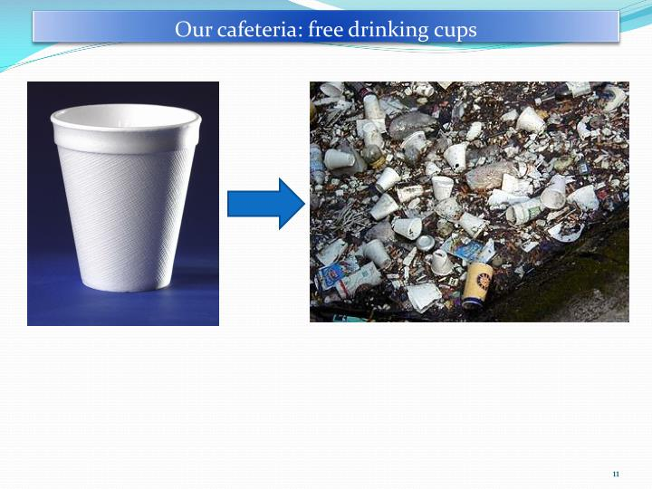 Our cafeteria: free drinking cups