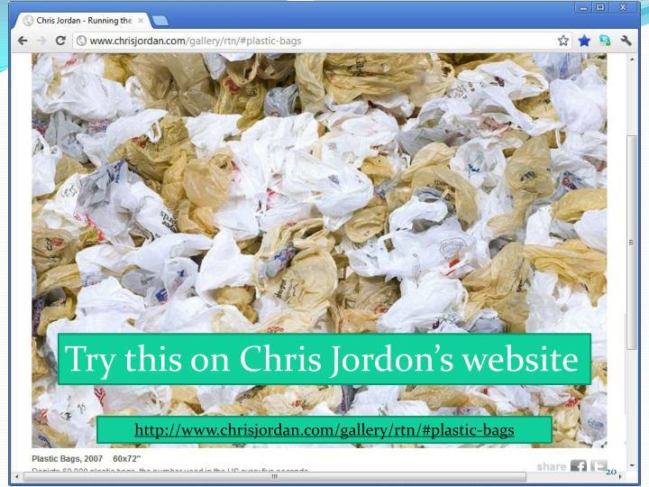 Try this on Chris Jordon's website